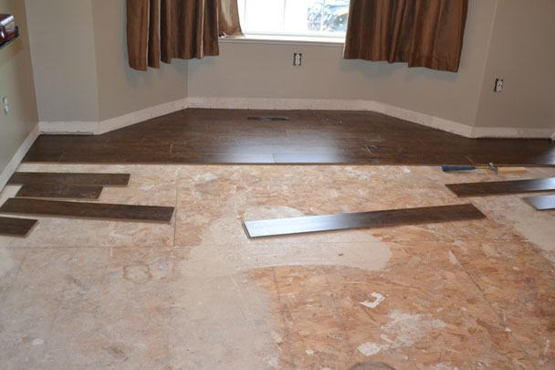 Installing tile on wood floor