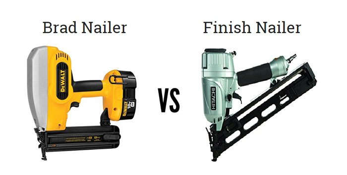 What Are The Differences Between Brad Nailer Vs Finish Nailer