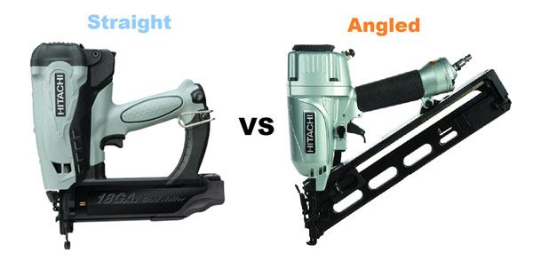 What are the Differences between Straight vs Angled Finish Nailers